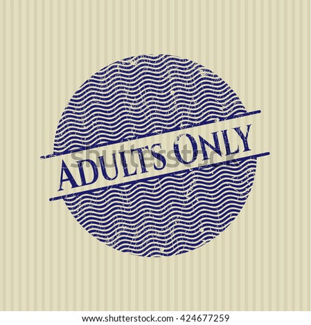 Adults Only grunge stamp
