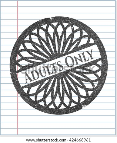 Adults Only penciled
