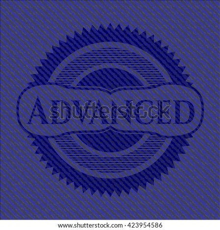 Advanced emblem with jean high quality background