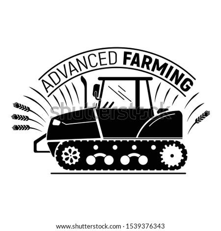 Advanced farming logo. Simple illustration of advanced farming vector logo for web design isolated on white background