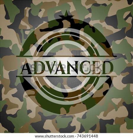 advanced on camouflage pattern