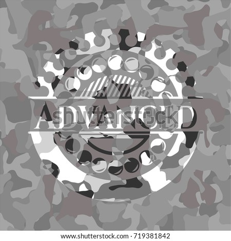 advanced on grey camouflage