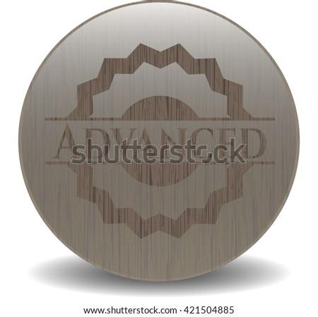 Advanced retro style wood emblem