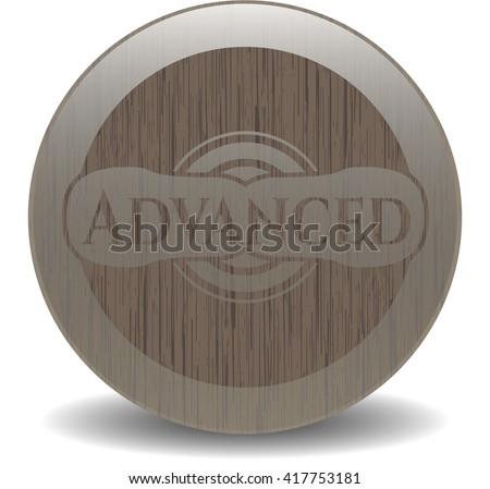 Advanced wooden emblem. Retro