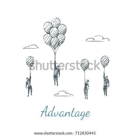 advantage people fly up on