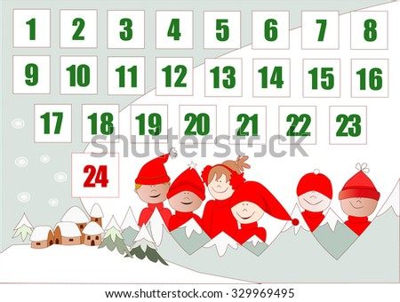Christmas Gift Advent Calendar Vector Download Free Vector Art