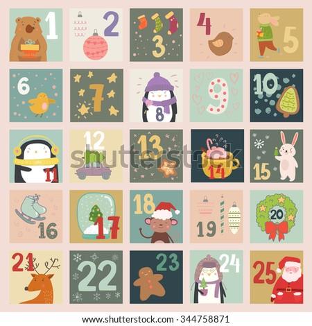 advent calendar with beautiful