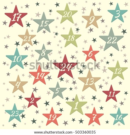 Advent calendar with stars