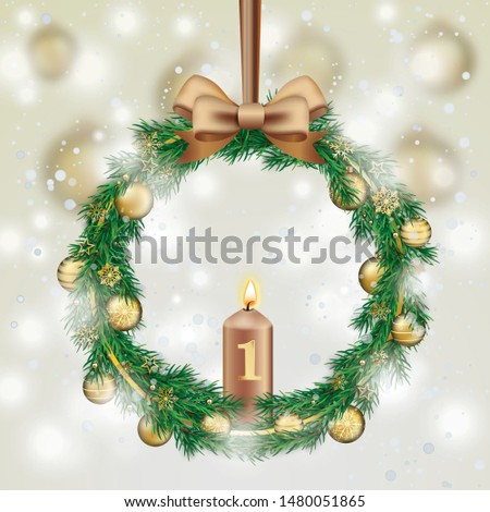 advent wreath with green twigs