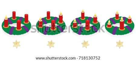 advent wreath with one  two