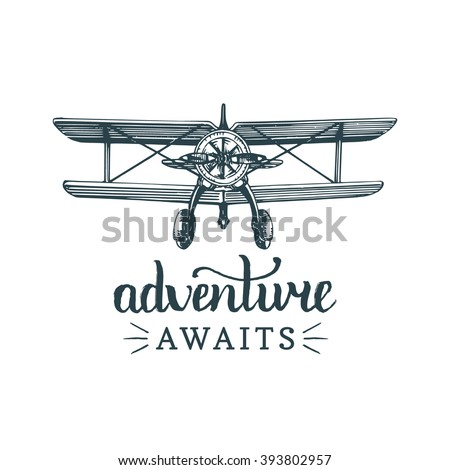 adventure awaits vector