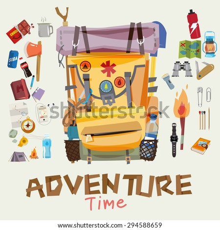 adventure backpack with