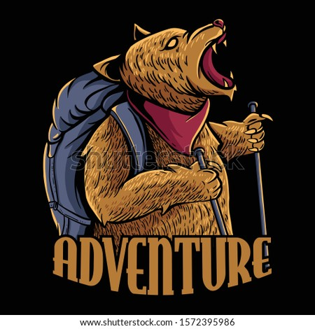 adventure bear illustration