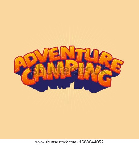 adventure camping  logo orange