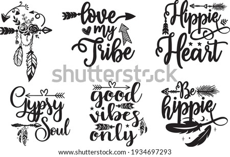 Adventure Cool Lettering Calligraphy Quotes Poster T-shirt Svg, Camping Quotes, Adventure time quotes for T-Shirt design, Cut Files Designs. Adventure Message. Boho theme. six designs