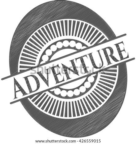 Adventure drawn in pencil
