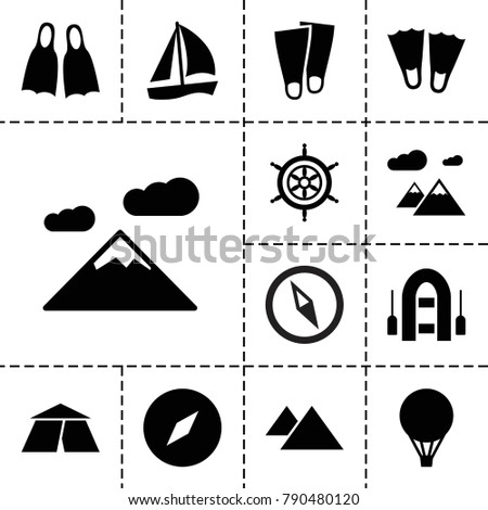 adventure icons set of 13