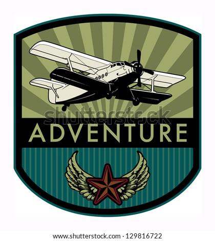 adventure label  vector