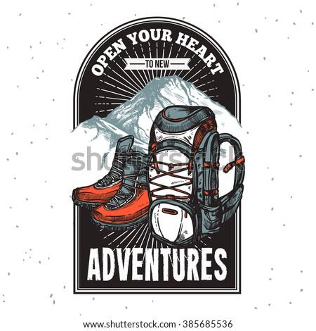 adventure lettering emblem