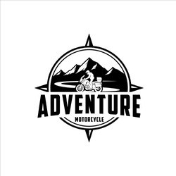 Adventure motorcycle cross mountain road