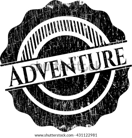 Adventure rubber seal with grunge texture