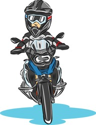 Adventure touring motorcycle Vector  with graphic.