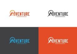 Adventure , Travel time,  earth, mountain, camp logo design