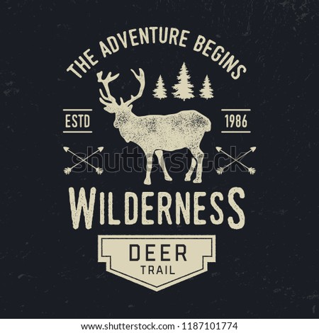 Adventure typography. Textured vintage vector t-shirt and apparel design, print, logo, poster. Vector