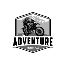 Adventure using a Motorcycle around The Mountain Trails