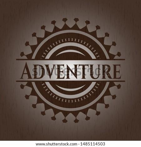 Adventure wood signboards. Vector Illustration.