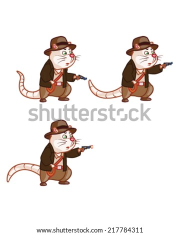adventurer rat shooting with