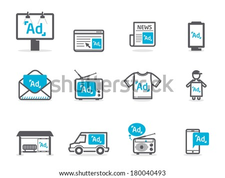 Shutterstock Advertisement icons set