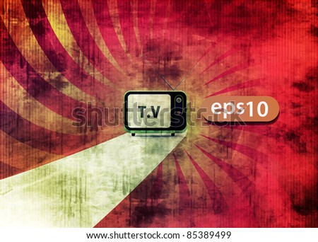 advertisement television design  and internet production technology concept