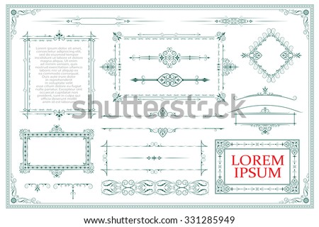 Advertisements, flyer, web, wedding  and other invitations or greeting cards. Vector template.  #331285949