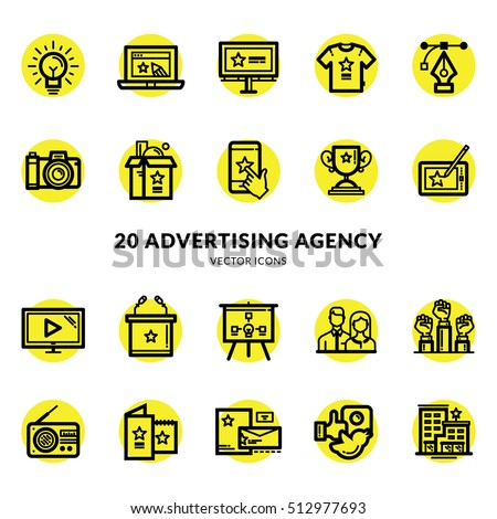 Advertising Agency Icon Set