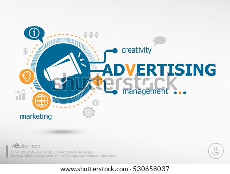 Advertising and marketing concept. Project for web banner and creative process.