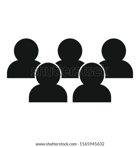 Advertising audience icon. Simple illustration of advertising audience vector icon for web design isolated on white background