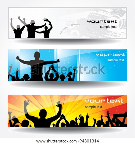 Advertising banner for sports championships and concerts