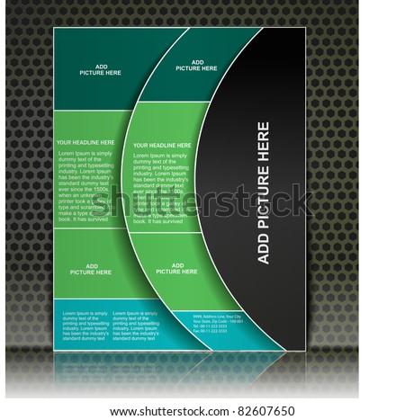 advertising brochure design template, vector.