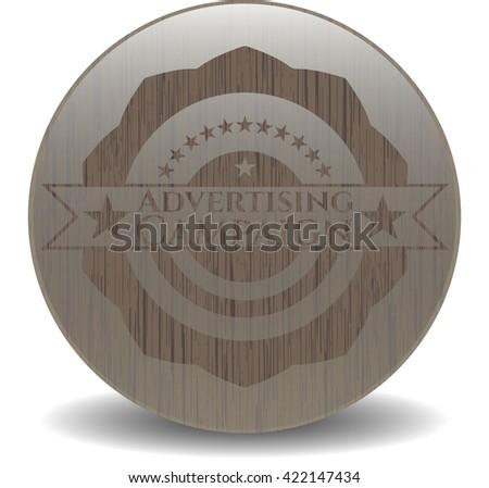 Advertising Campaign retro style wood emblem