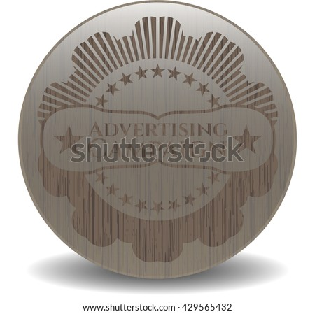 Advertising Campaign vintage wood emblem