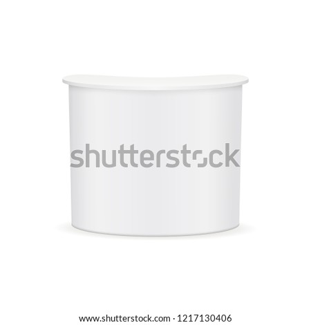 Advertising counter mock up - front view. Vector illustration
