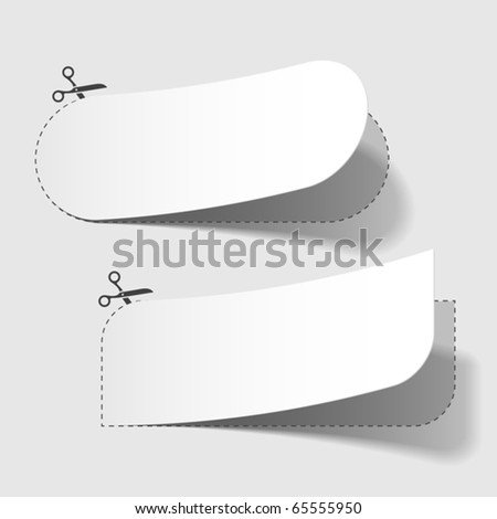 Advertising coupons. Vector.