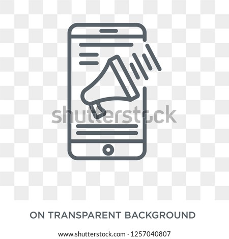 Advertising icon. Trendy flat vector Advertising icon on transparent background from Programming collection. High quality filled Advertising symbol use for web and mobile