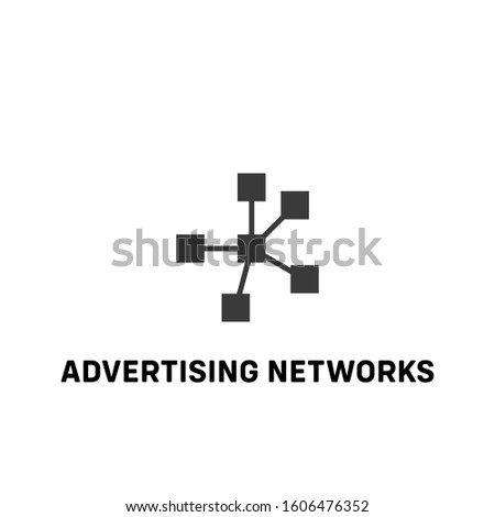 advertising networks icon vector. advertising networks sign on white background. advertising networks icon for web and app