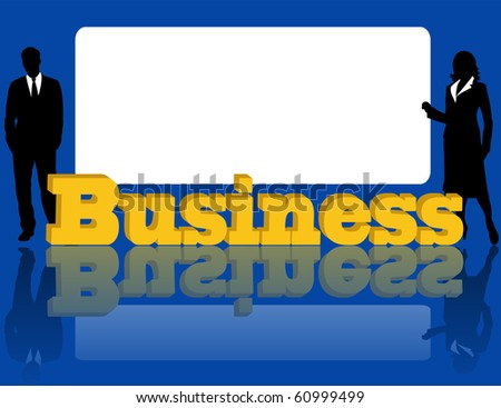 Advertising of business on a blue background