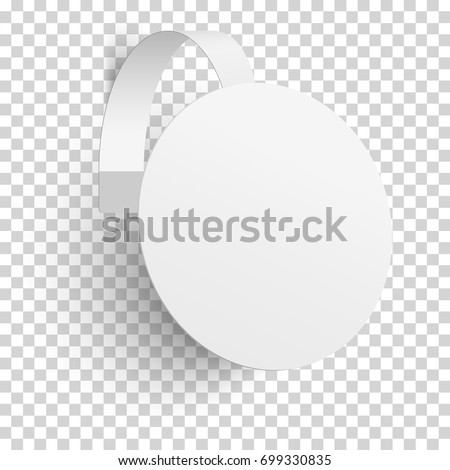 Advertising paper wobbler isolated on transparent background. Vector template design. #699330835