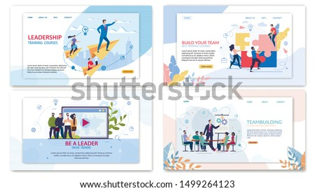Advertising Poster Corporate Training Teambuilding. Set Leadership Training Courses. Be a Leader Online Training. Build Your Team Best Training Courses. Using Detailed Step by Step Plan.