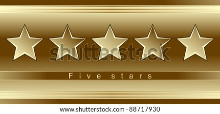 Advertising template - five gold stars