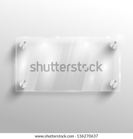 Advertising vector glass board.